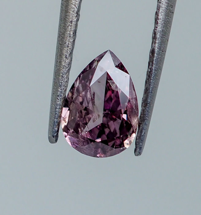 0.29  ct - Natural Fancy INTENSE Diamond - Pinkish Purple I1  *NO RESERVE*