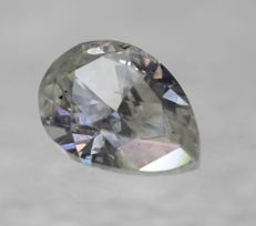 Diamond Pear 0.72 ct H SI2 UNTREATED UNHEATED 100% natural [No Reserve price] low price shipping
