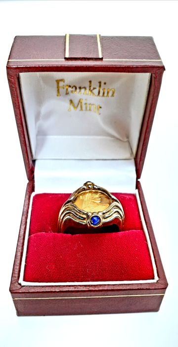 The Cleopatra Ring - Complete in 14kt gold - With real Lapis Lazuli stones