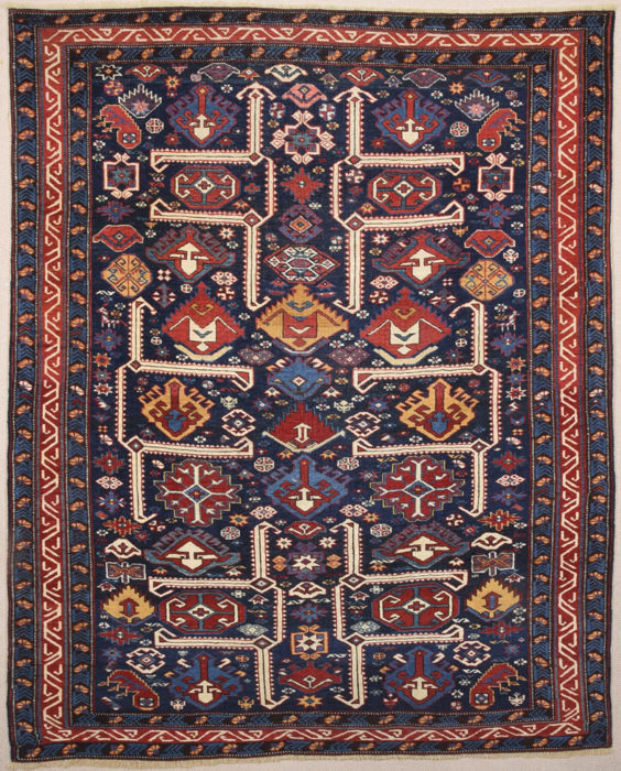 Middle of the 19th Century Shirvan Rug Size 122 x 150 cm