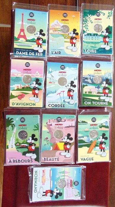 France - 100 Euro 2018 Disney Mickey in sealed blisters - Silver