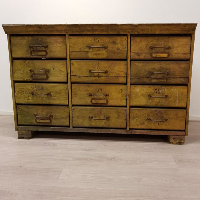 Great Designer Unknown   Industrial Chest Of Drawers / Tool Cabinet