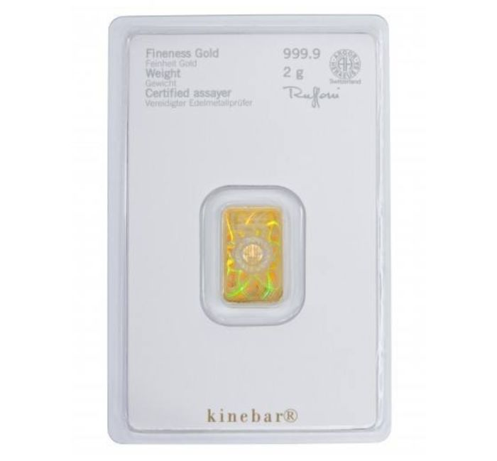 HERAEUS - 2 g - 999.9 - Minted - Blister - (Kine Bar)
