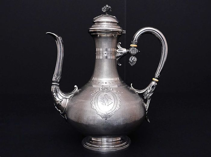 Silver coffee pot - Fray Fils - France - 1875-1881