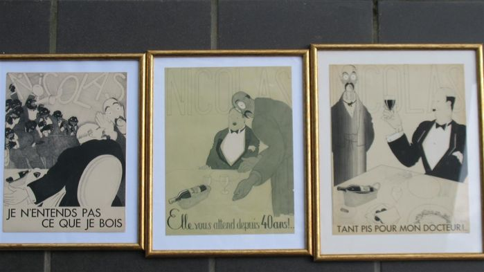 Paul Iribe (1883-1935) - 3 Art Deco lithograph/posters - made for the wine merchant Nicolas in 1930