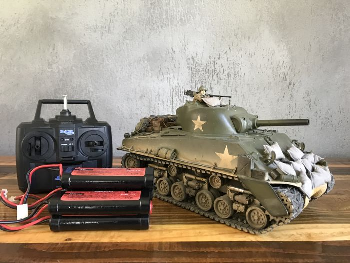 Tamiya 1/16 M4 Sherman R/C Full option Customized Radiocontrolled Rare -  Catawiki