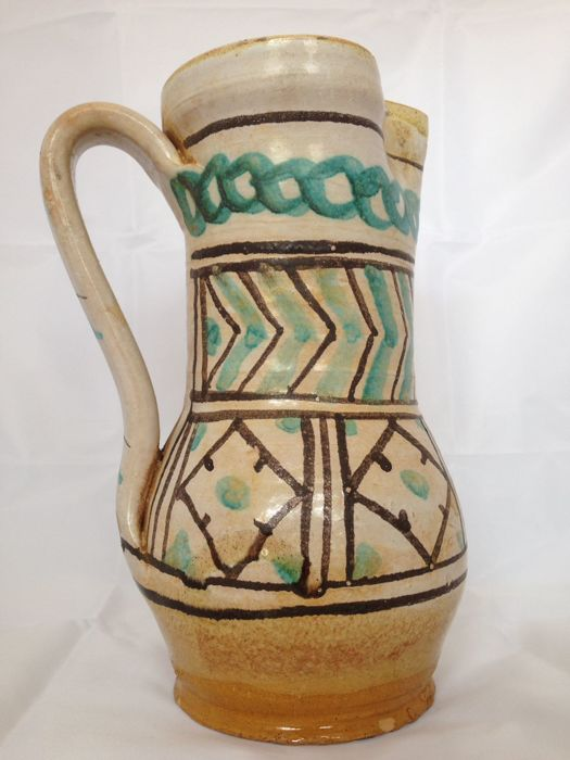 Pitcher, commonly called 'Panata' with polychrome geometric decoration. Late 1800s