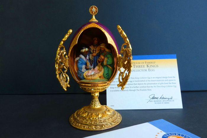 House of Fabergé - 'We Three Kings' - Collector egg - Enamel - Swarovski rhinestones - 24K gold plated - Numbered