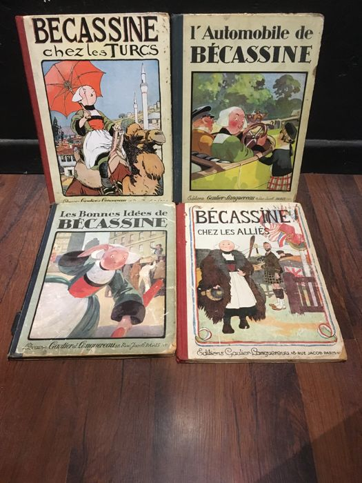 Caumery & JP Pichon  - Lot avec 4 volumes Bécassine  - 1927/1931