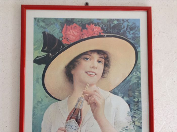 Reproductions of the original Coca-Cola advertising posters