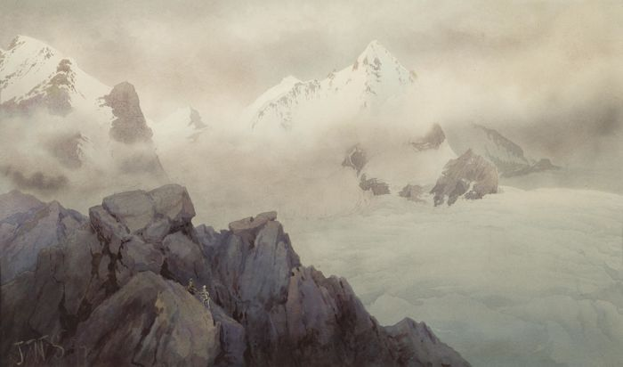 James Whittet-Smith - Climbers on the Dent Blanche