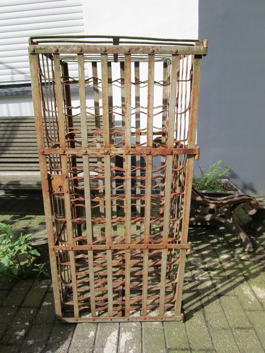 Antique wine rack - France ca. 1900 - size approx. H 116 cm x W 55 cm x L 57 cm - riveted with iron