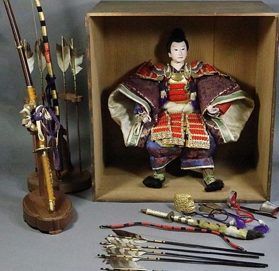 Large Musha Ningyo Warrior Doll (45 cm) - Japan - 1910