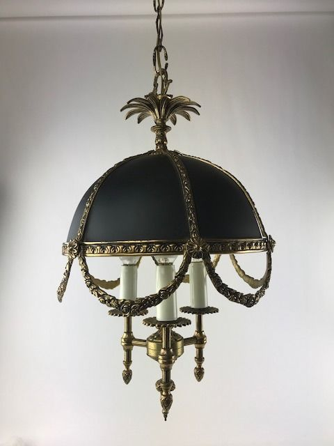 Heavy bronze chandelier, France, 20th century