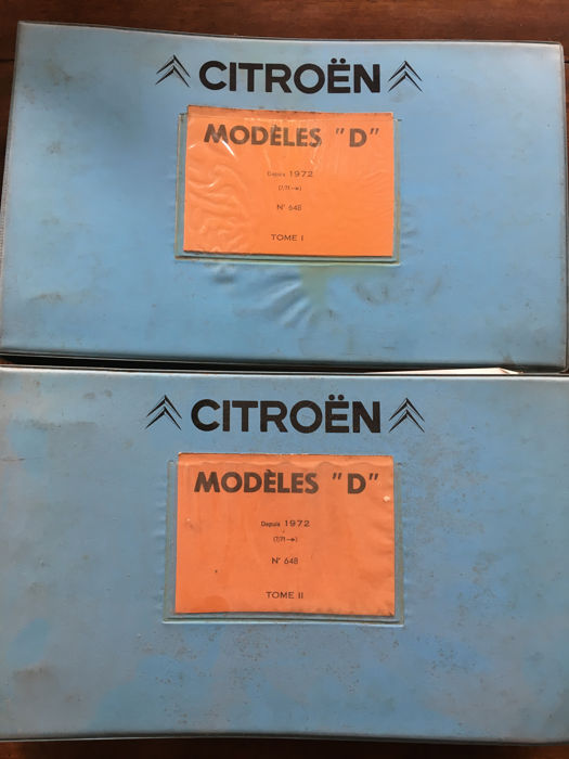 Citroen 'modèles D' official spare parts catalogue in Italian