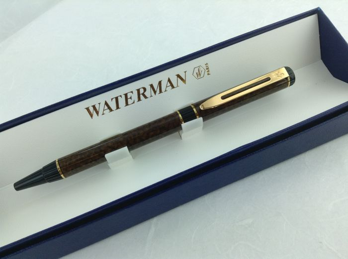 Waterman Forum ballpoint pen, brown mixed