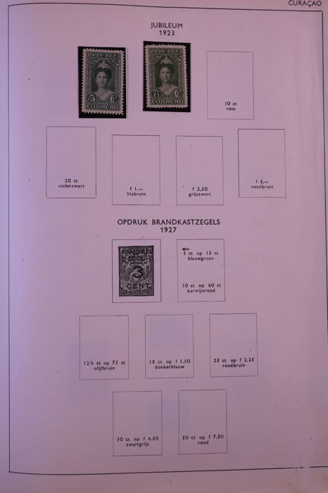 Netherlands Overseas 1872/1980 - Batch in 4 stock books, old spring-back  binder and an old Unie preprint album - Catawiki