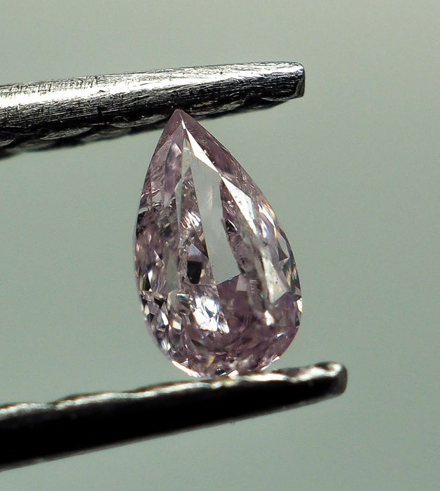 0.08 ct - Natural Fancy Diamond - Pink - I1 *NO RESERVE*
