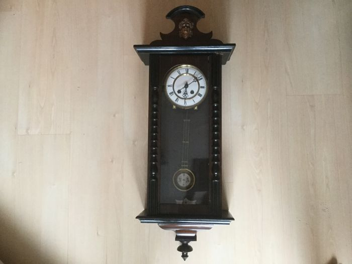 Beautiful old Regulator clock with beautiful cut out head