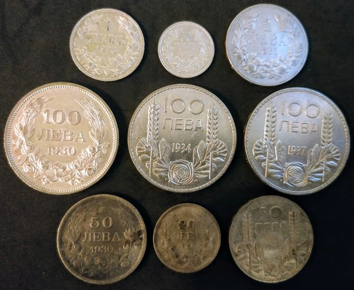 Bulgaria - 50 Stotinki (1/2 Lev) up to and including 100 Leva 1891 - 1937 - Silver