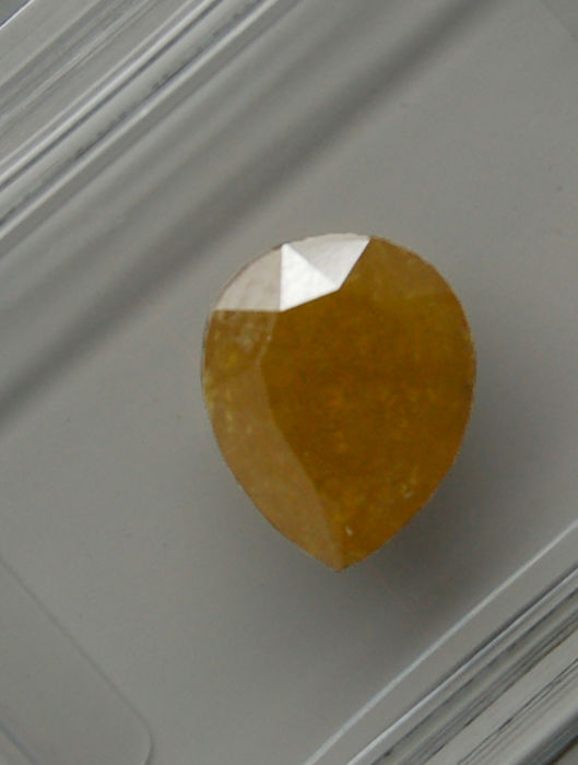 1.20 Cts Certified Natural Fancy Greenish Brownish Yellow Diamond -No reserve