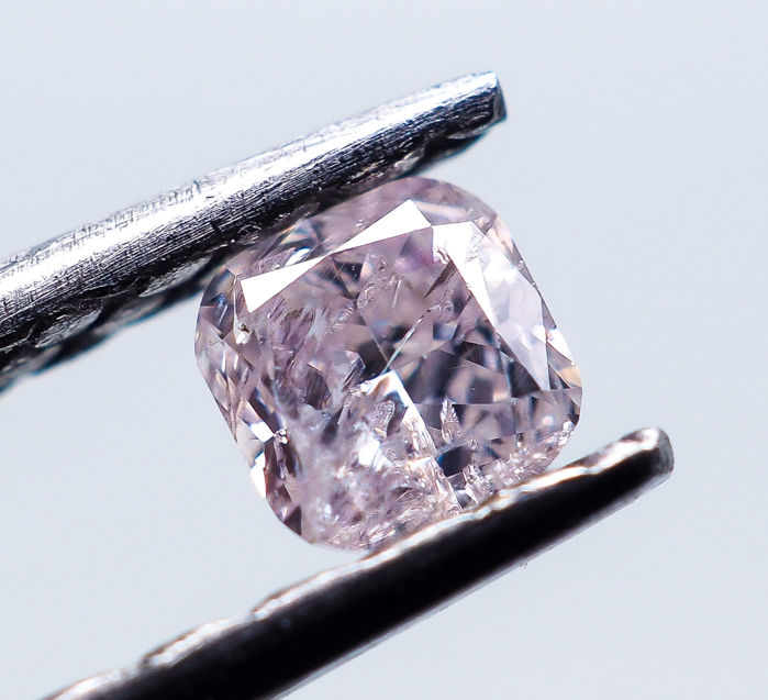 0.12 ct - Natural Fancy Diamond - Light Pink - I2 *NO RESERVE*