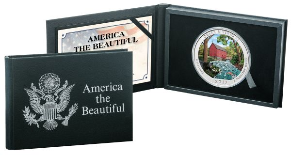 États-Unis - ¼ Dollar 2018 'America the Beautiful - Ozark River' with color -5 oz  - Argent