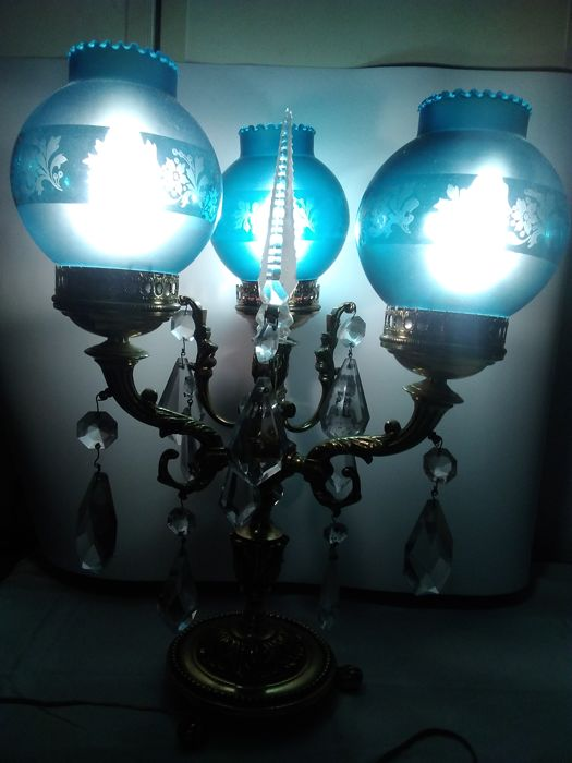 Chandelier with shades, 50s - 60s