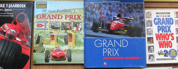 Formula 1 books including Schlegelmilch Grand Prix Fascination and 9 others