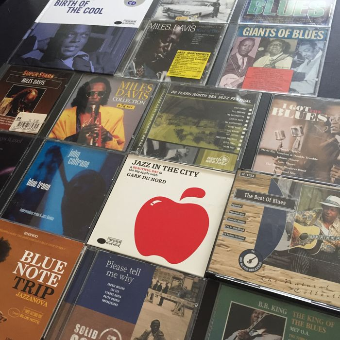 Collection of 20 Blues/Jazz/Soul CD's: Miles Davis / Chet Baker / John Coltrane / B.B. King / and more.