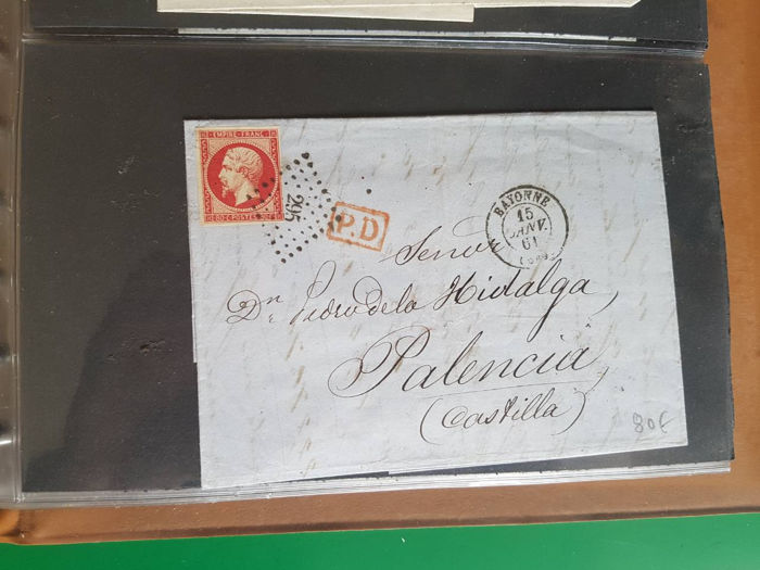 France 1849/1880 - Lot with 84 classic letters