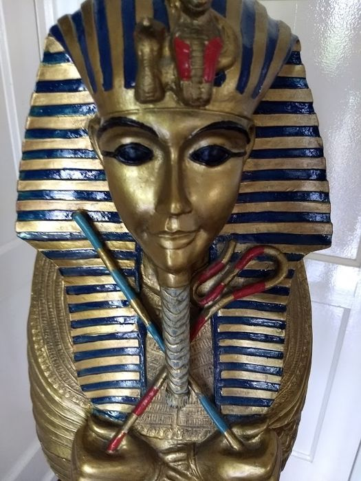 A unique and decorative image of a sarcophagus from Egypt