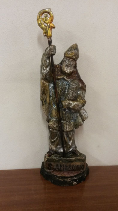 St. Ambrose in wood - Italy - late 18th century