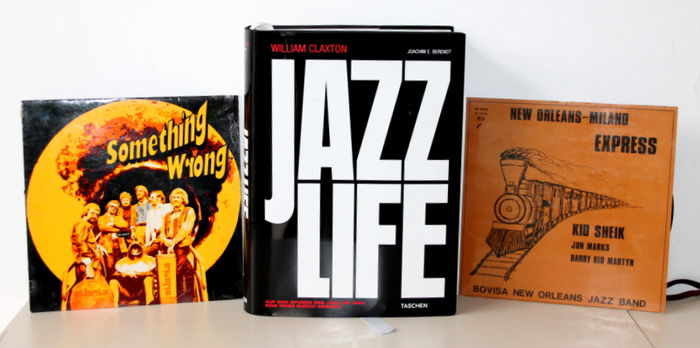 "JAZZ William Claxton / Joachine E. Berendt - Jazzlife, collector's edition - 2005 + 2 Original LP Düsseldorfer Atlanta Jazzband ""Something wrong"" / Kid Sheik ""Express New Orleans - Milano"""