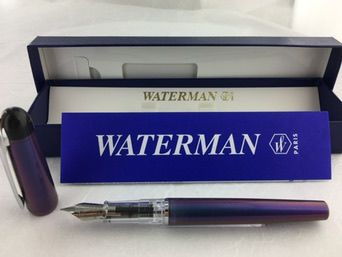 Waterman Kultur purple metallic fountain pen with Waterman box