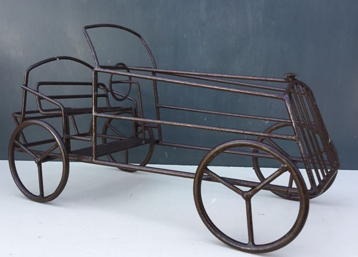 A nostalgic car made of iron wire, 2nd half of 20th century