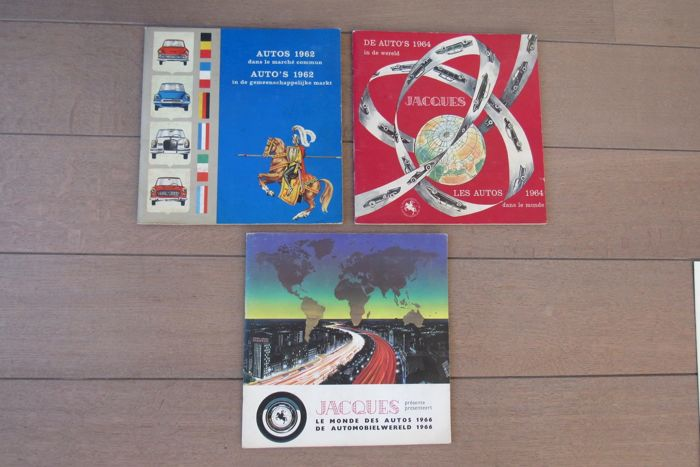 3 Complete car compilation albums 1962-1964-1966-chocolate Jacques