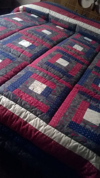 CALEFFI - Double quilt in patchwork and paisley fabric, new - Milan