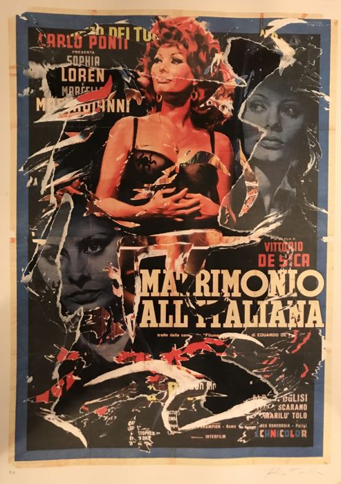 Mimmo Rotella - Matrimonio all'italiana
