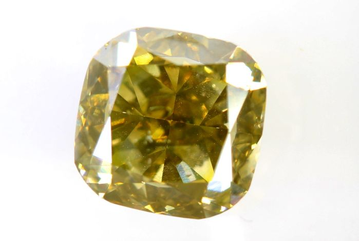 AIG Sealed Diamant - 2.01 ct - Fancy Intense Brownish Greenish Yellow - SI2