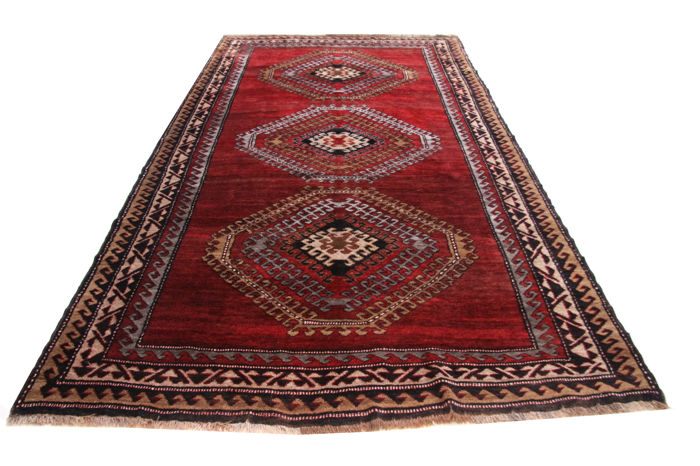 Antique Gabbeh around 1935 / Iran approx. 3.45 x 2.00