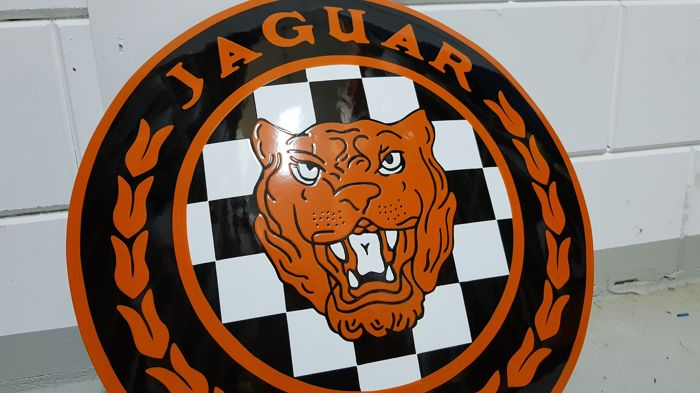 Enamel sign Jaguar - 21st century