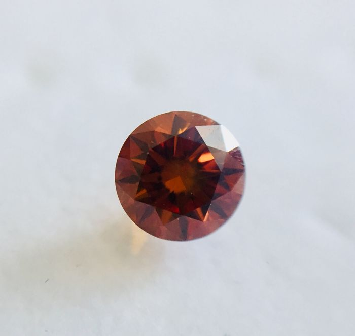 Natural fancy deep brownish orange 0.51ct