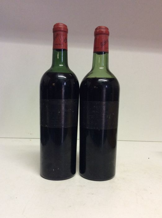 1962 Chateau Pipeau, Saint-Emilion Grand Cru, France , 2 bottles 0,75l