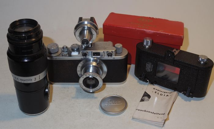 Leica II - including Elmar 3.5/50 and Hektor 4.5/135 - 1938