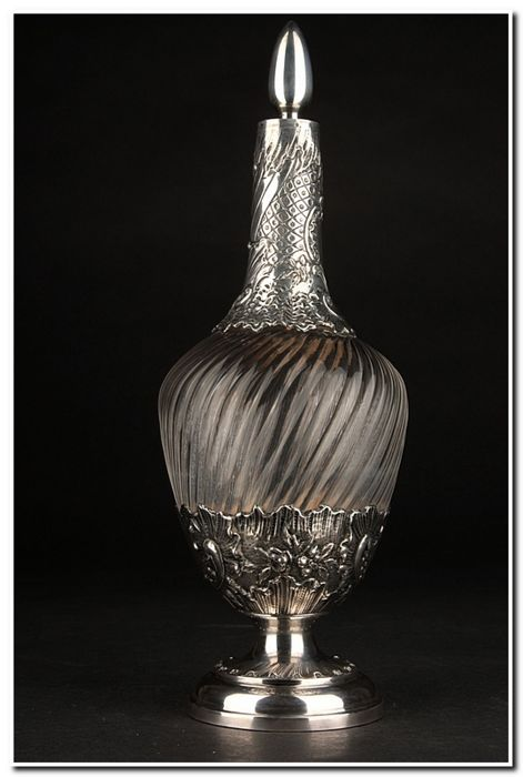 A large silver carafe - France