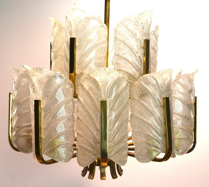 Carl Fagerlund For Orrefors -  Impressive two-tier chandelier