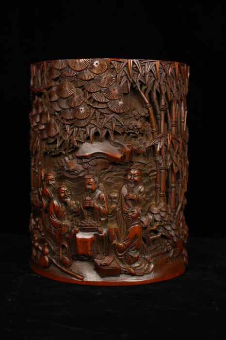 A Bamboo brush pot - China - early 20th/first half 20th century