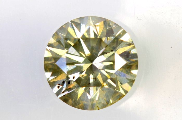 AIG Sealed Diamond - 0.80 ct - Fancy Light Yellowish Brown - SI2 - Excellent Cut