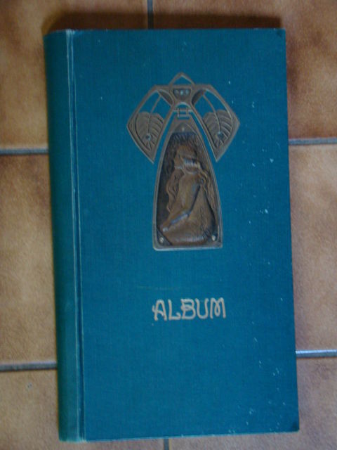 Six Old Collection Albums Of Which The Thickest One Holds 125 Pages